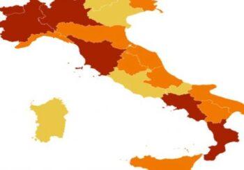 L'Emilia Romagna diventa regione in zona arancione